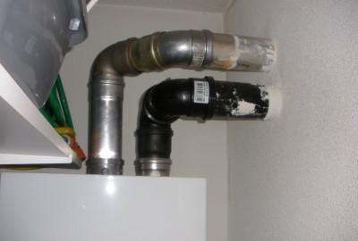 VR en HR Cv-ketels op één rookgasafvoersysteem, niet doen!