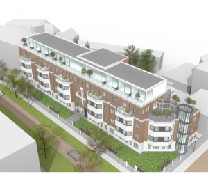 Transformatie kantoorgebouw naar 75 appartementen